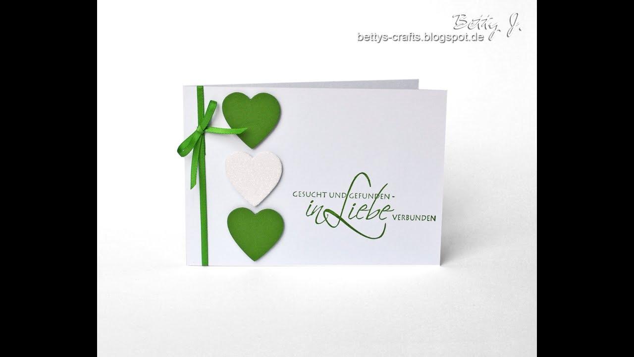Hochzeitseinladungen basteln grun