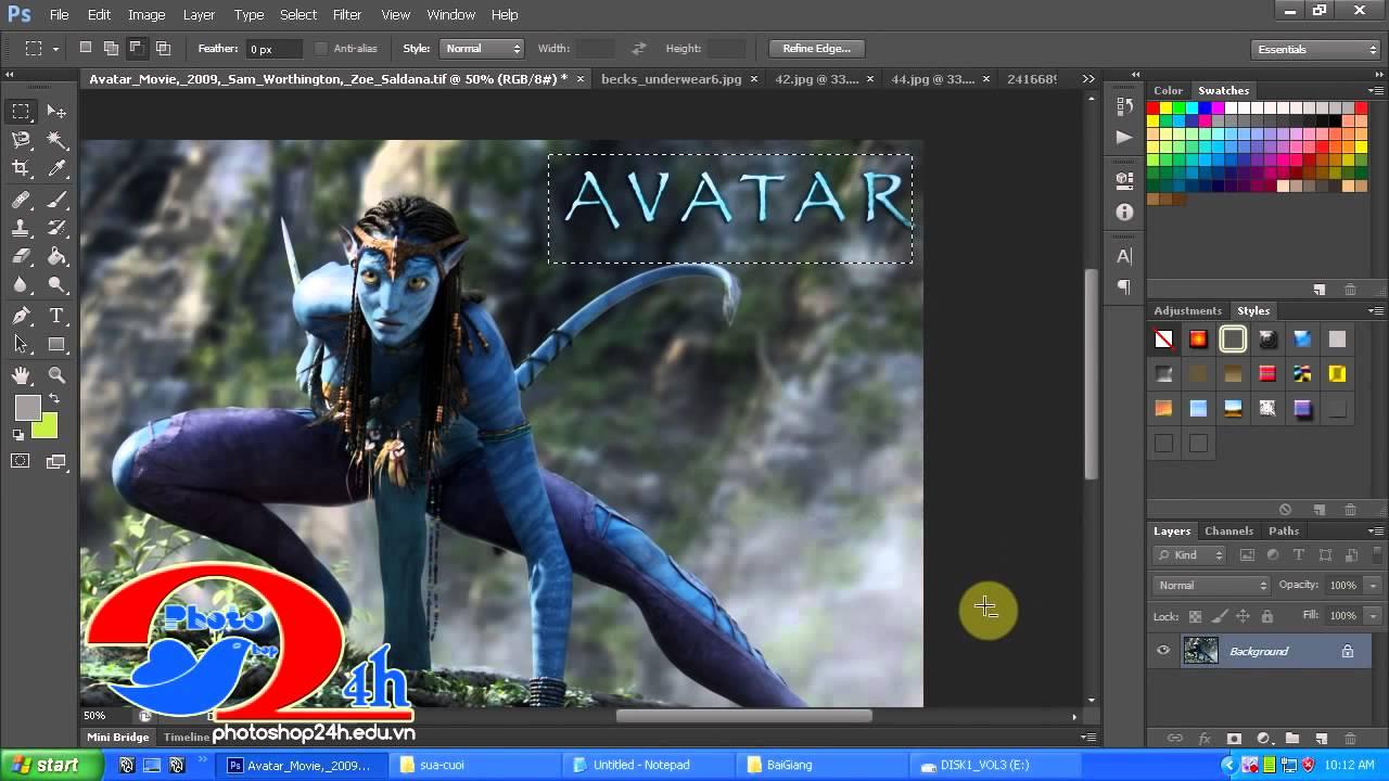 Học Photoshop – Làm quen với khu vực làm việc trong photoshop cs6