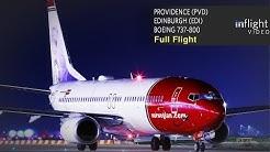 Norwegian Full Flight: Providence to Edinburgh - Boeing 737-800