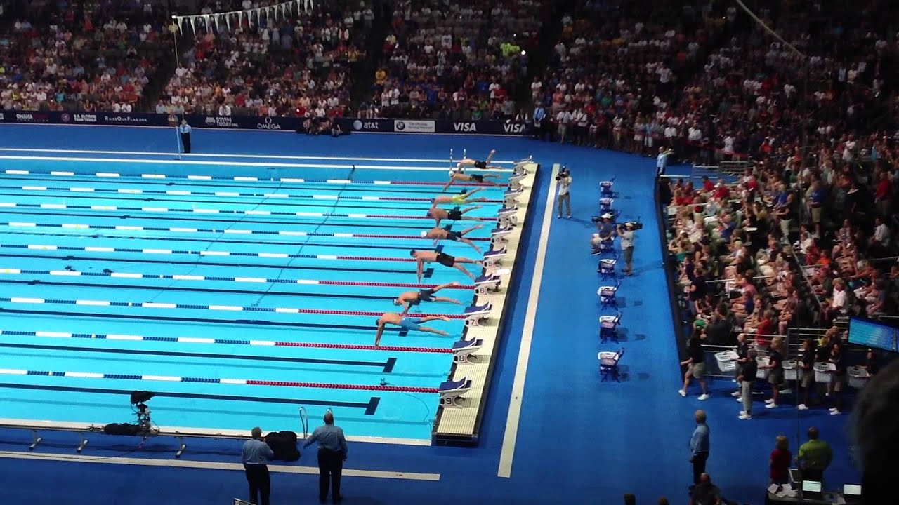 Olympic Swimming Trials 2012 Men 39 S 200m Freestyle Finals Lochte Vs Phelps Youtube