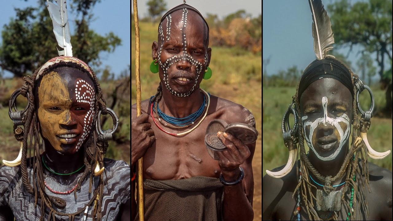 Mursi tribe naked is Ethiopia. - YouTube