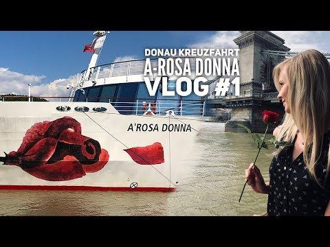 Donau Kreuzfahrt mit A-Rosa - Vlog#1: Wir erkunden die A-ROSA Donna