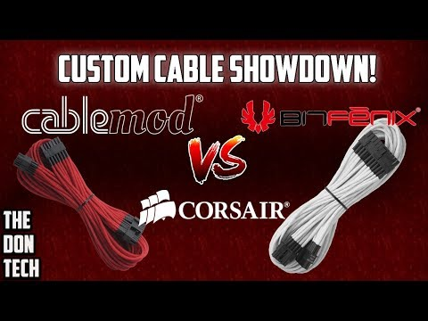 Corsair vs BitFenix vs Cablemod Power Supply Cables - The Don Tech