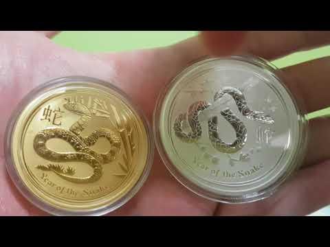 Australian Gold perth mint australia lunar year of the SNAKE 2013 bullion coin Review HOT!!!!