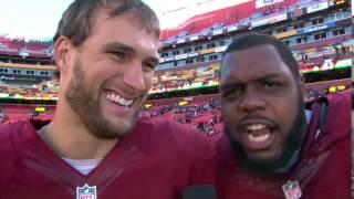 Chris Baker Yells 'You Like That?!' During Kirk Cousins Interview | Saints vs. Redskins | NFL