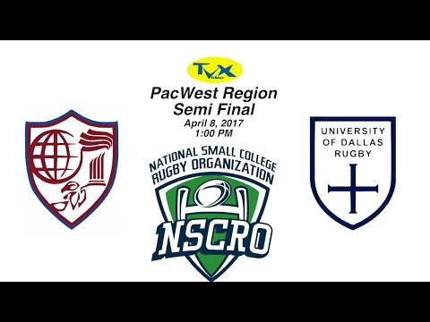 PacWest Regionals - Claremont vs University of Dallas, NSCRO Rugby