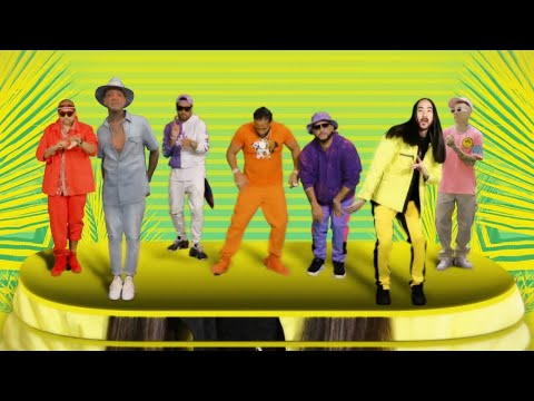 Смотреть клип Steve Aoki & Willy William Ft. Sean Paul, El Alfa, Sfera Ebbasta & Play-N-Skillz - Mambo