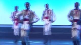 Boys from Kenya dancing a Moldovan dance.