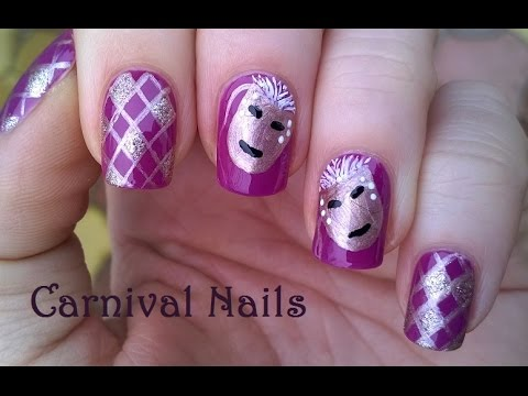 carnival nail art - freehand