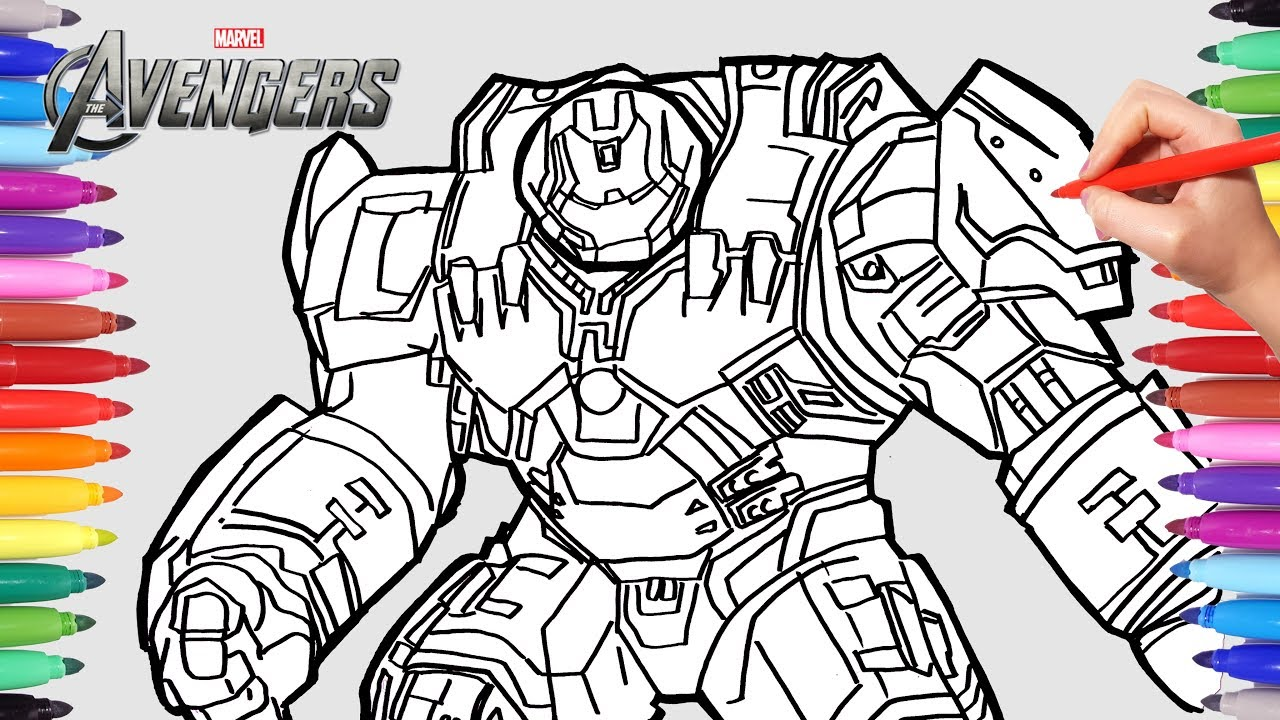 The Avengers Hulkbuster Iron Man Superheroes Coloring Pages ...