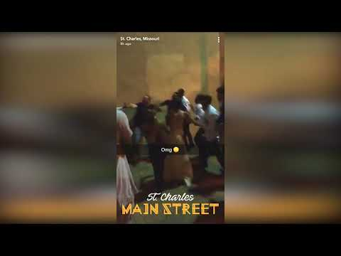 Wedding Brawl - Downtown St.Charles, MO - 9/2/17 (Group of men allegedly beat on woman)