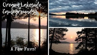 Oregon Lakeside Campgrounds ~ A Fęw Favs!