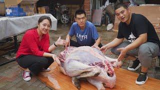 【食味阿远】5000块钱买了只鸵鸟,阿远帮朋友炖鸵鸟,炖一半烤一半,吃着新鲜 | Roast Ostrich | Shi Wei A Yuan