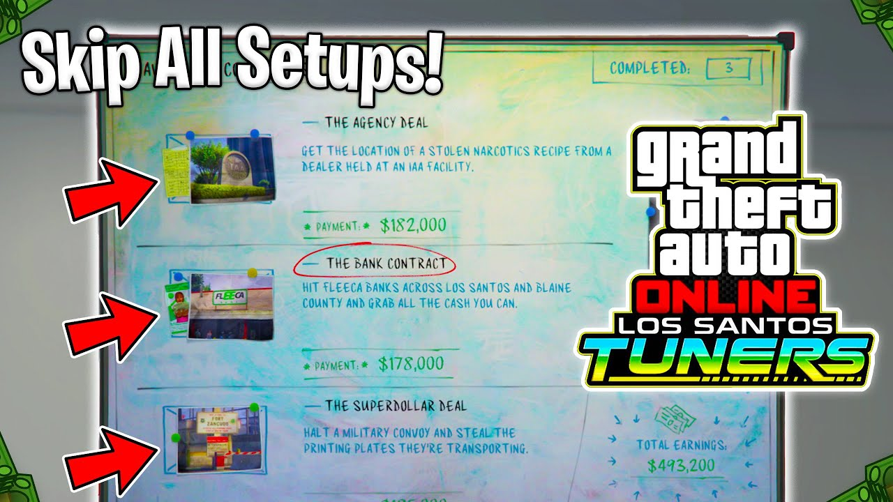 How To Skip All The Contract Mission Setups In GTA 5 Online! (Los Santos Tuners Skip Setups Trick!)