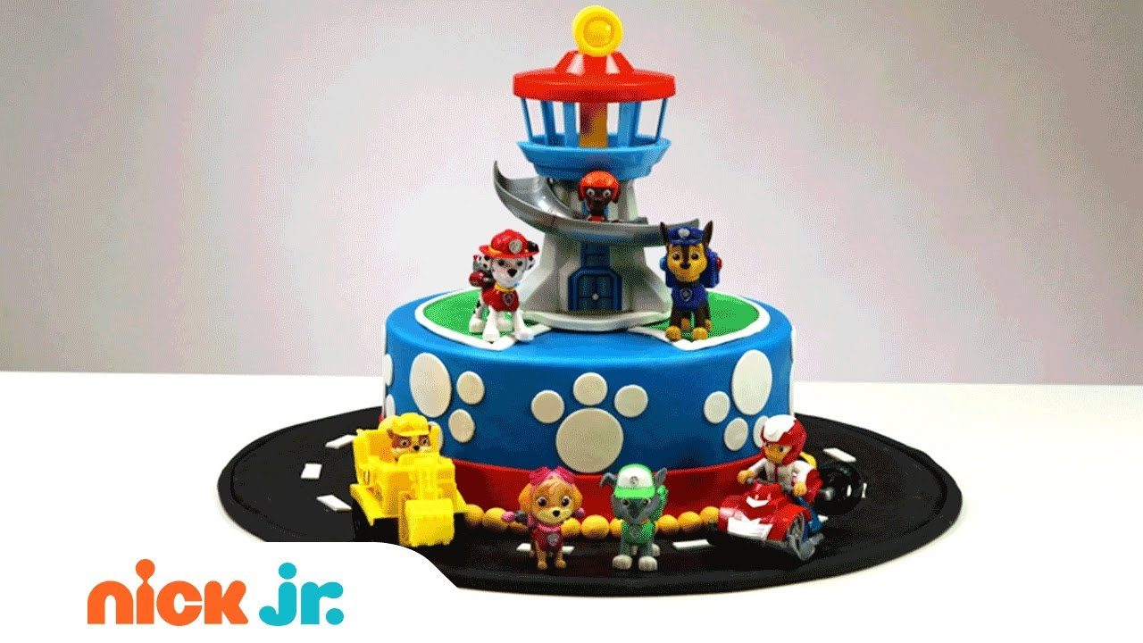 How To Create Decorate Your Own Paw Patrol Cake Nickelodeon