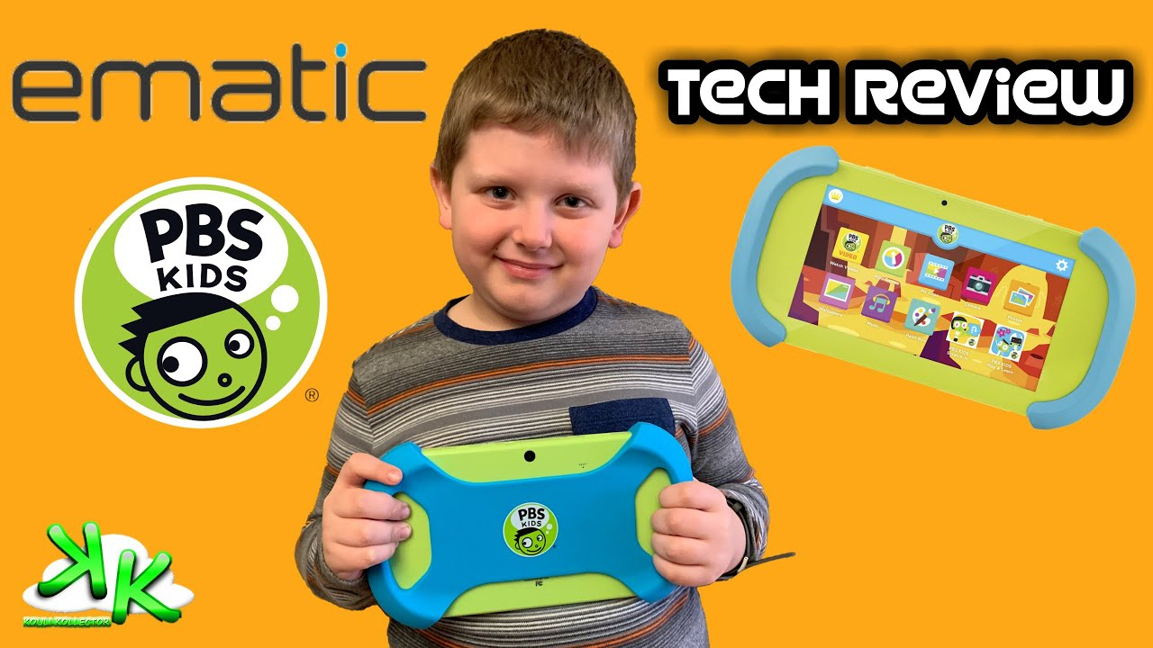 """PBS Kids Playtime Pad 7"""" Tablet by Ematic - Kids Safe and Parent Approved  Tablet"""
