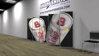 3д баннеры(Один из примеров рекламы распространенной за границей. Красиво, прикольно, эффектно. 3Д стены, 3д баннер...., 2014-12-27T09:57:55.000Z)