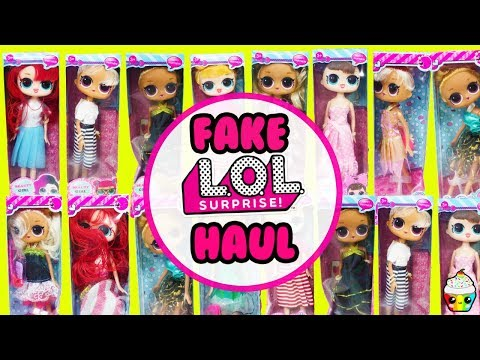 FAKE LOL Surprise Big Sisters Haul Scented Barbie Size LOL Dolls