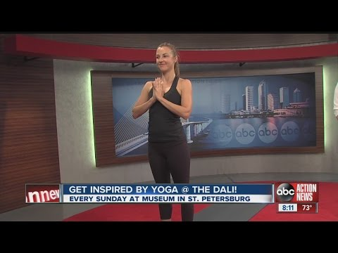 Yoga program at the Dali Museum