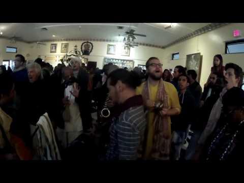 Bhadra Prabhu Leads Hare Krishna Chant on Gaura Purnima 2017 in Alachua