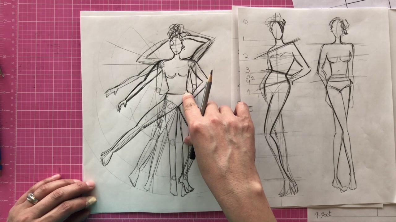 Fashion Illustration Lesson - 9 Head Fashion Figure - Part 2