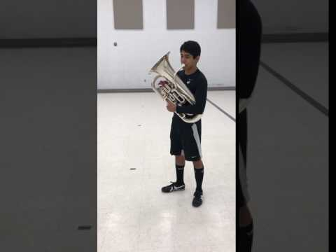 Two Octave Eb Scale on euphonium