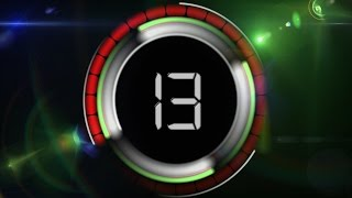 60 Seconds Countdown Timer ( v 455 ) HUD with sound effects HD 4k