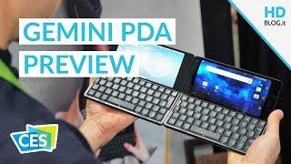 Gemini PDA: 6 pollici Android e Linux con tastiera QWERTY | CES 2018