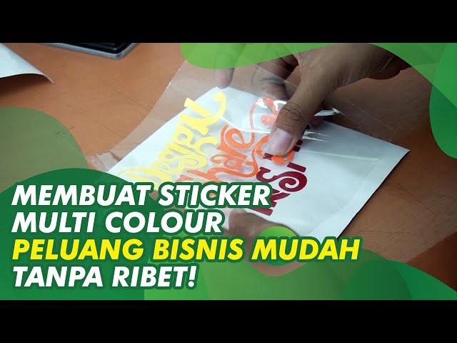 Cara Mudah Menggabungkan Sticker Multi colour dengan Teknik Masking