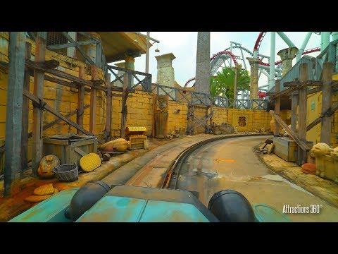 [4K] Treasure Hunters - Family Ride at Universal Studios Singapore