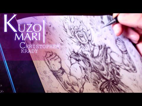 Speed Drawing Super Saiyan Goku - ssj   Anime Manga Sketch