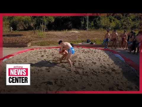 South Korean Ssireum Wrestlers Promote The Traditional Sport In Laos