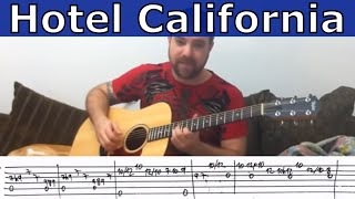 Fingerstyle Tutorial: Hotel California (Instrumental) - Guitar Lesson w/ TAB