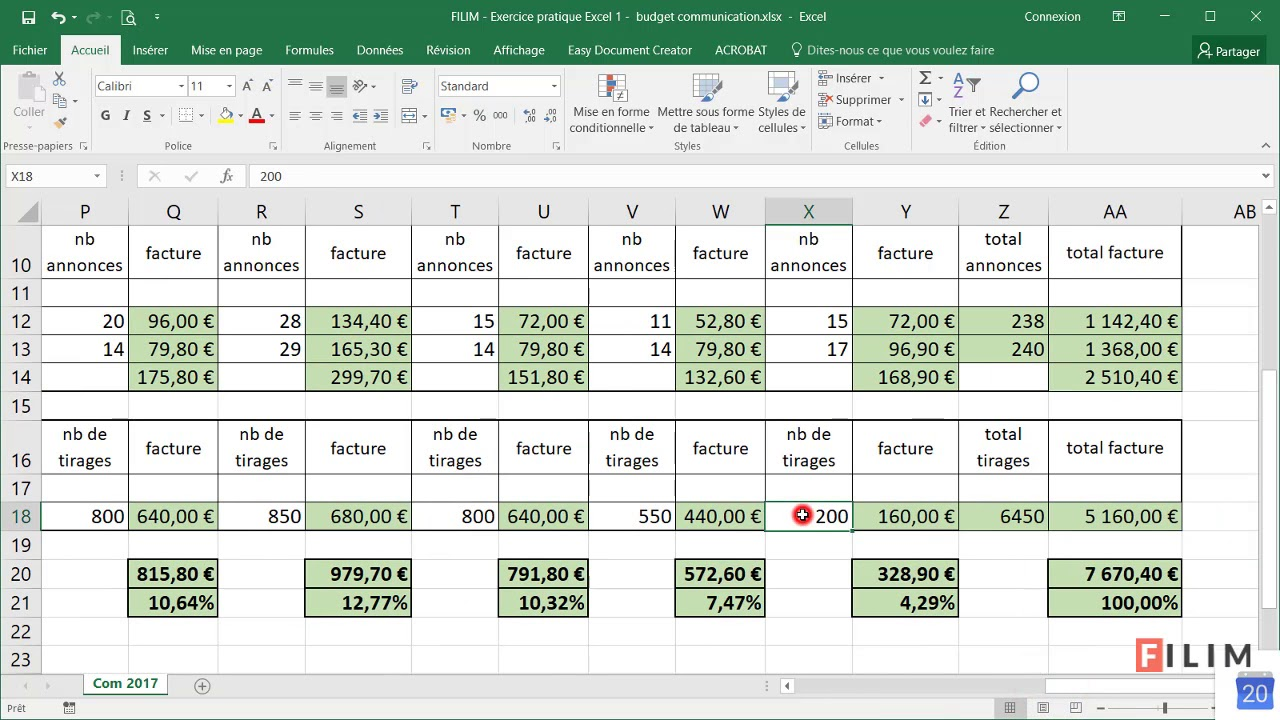how to budget in excel