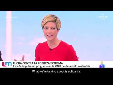 The SDG Fund en Las Mananas TVE (Spanish National Television)