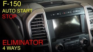 Ford F-150 Auto Stop-Start Delete 4 ways (Auto Stop Eliminator)