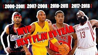 NBA Best MVP Play By Year (2000 - 2018)
