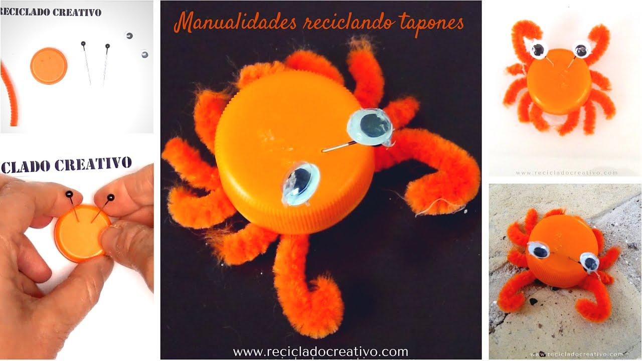 C mo hacer un cangrejo naranja manualidad para ni os con for Materiales para hacer un ascensor
