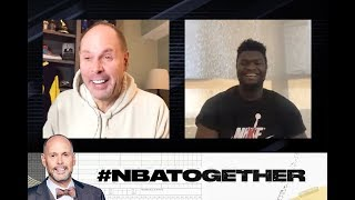 Zion Talks About the ROY Race, his Duke Days & more on #NBATogether with Ernie Johnson | NBA on TNT
