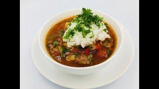 Суп «Фаршированный перец» | Суп с болгарским перцем и помидорами | Суп без картошки