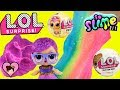 LOL Surprise Pets & Glitter Series Dolls - DIY  Slime Factory Toy