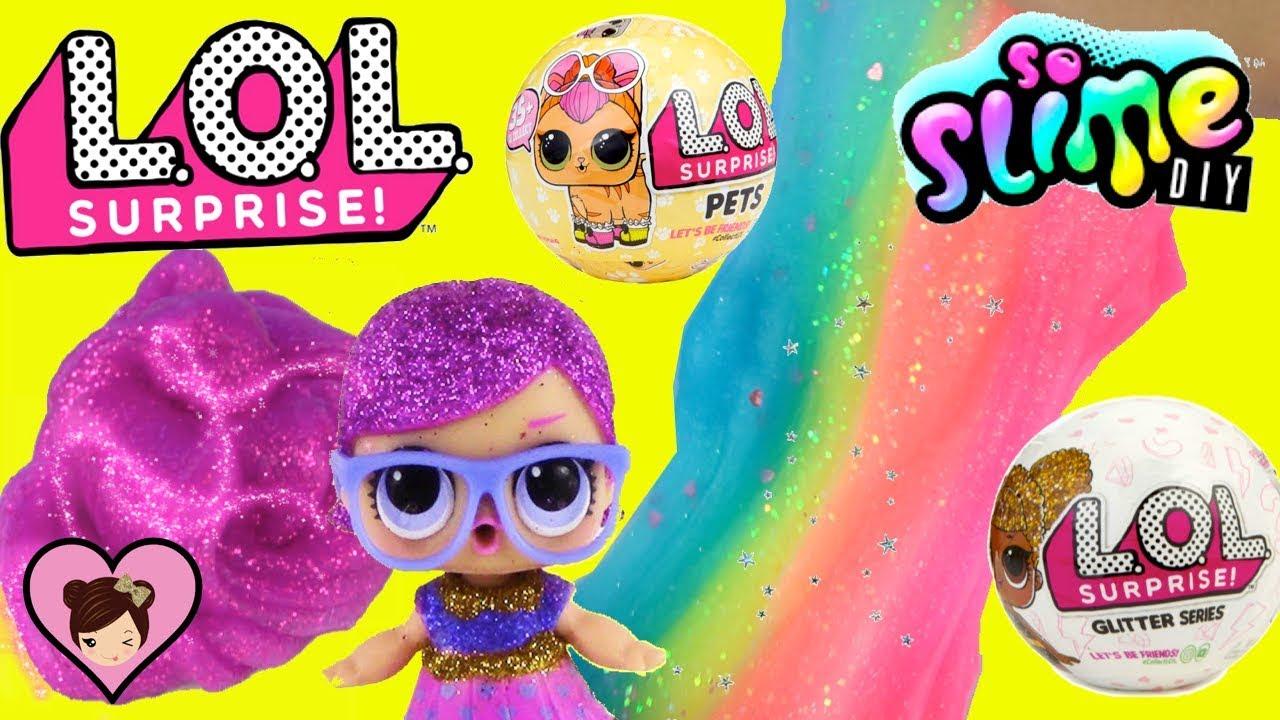 LOL Surprise Pets & Glitter Series Dolls - DIY Slime Factory Toy