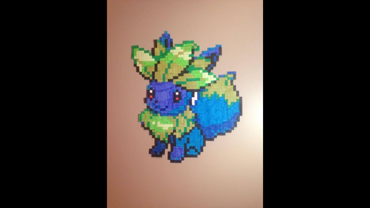 Pixel Art Pokémon Mystherbe évoli Youtube
