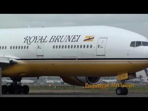 Royal Brunei 777-200ER {V8-BLB/BLD/BLF} at London Heathrow Airport