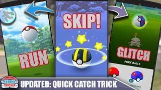 UPDATED! SKIP CATCH ANIMATION TRICK & NEVER *WASTE* A POKÉBALL - BEST CATCH TECHNIQUE | POKÉMON GO