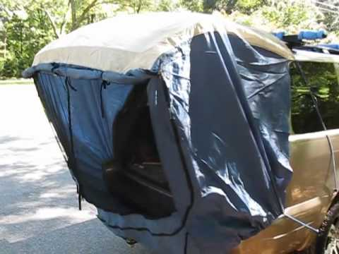SUV Tent C&er Accessory Walk around & SUV Tent Camper Accessory Walk around - YouTube