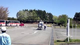 伊豆スカイライン亀石峠のドクターヘリ