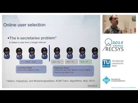 RecSys 2015 Session 2b: Cold Start and Hybrid Recommender Systems