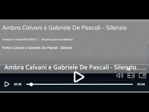 Silenzio - Ambra Calvani [autocitazione Moro Meta - Non mi avete fatto niente] - Sanremo 2018