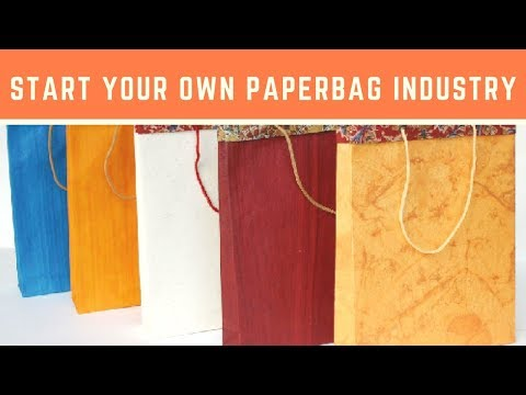 Start your Own Paper Bag Industry and Earn Money | Entreprenuership | BVG Creations
